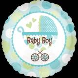 Nascita carrozzina tondo baby boy