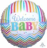 Nascita welcome baby pastello pallone tondo
