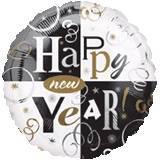 Pallone 'happy new year' nero e oro