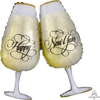 Pallone capodanno bicchieri