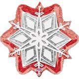 Red snowflake natalizio