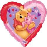 Pallone cuore Big Winnie the Pooh Hug