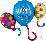 Pallone happy birthday cluster