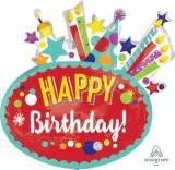 Pallone happy birthday festive