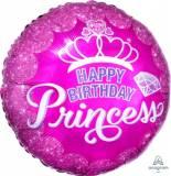 Pallone 'happy birthday'corona princess