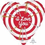 Pallone cuore happy valentine's day rosso e bianco