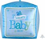 Nascita Pallone ultrashape cubo welcome baby boy
