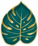 Coordinato piattino foglie tropicali new sagomato
