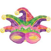 Pallone maschera di carnevale