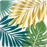 Coordinato Piatto foglie tropicali new