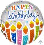 Pallone happy birthday con candele
