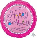 Pallone Happy Birthday scallop