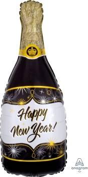 Pallone capodanno bottiglia champagne
