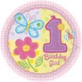Hugs & stitches 1 compleanno girl piatto