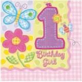 Hugs & stitches 1 compleanno girl tovagliolo