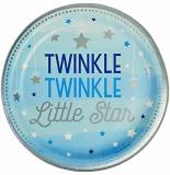Twinkle little star celeste baby shower Piatto piano