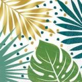 Coordinato tovagliolo foglie tropicali new
