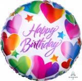 Pallone happy birthday con cuori