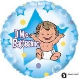Pallone battesimo bimbo celeste