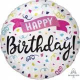 Pallone birthday sparkling e banner