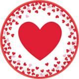 Coordinato confetti cuore