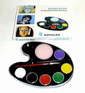 Aquacolor Tavolozza Ovale 6 Colori Kryolan 20ml Truccabimbi