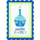 Biglietti di invito cup cake boy 1 compleanno