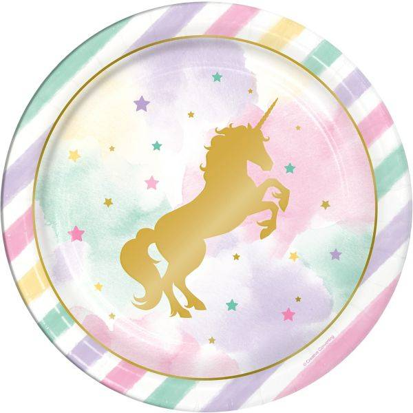 Unicorno gold piatto piano