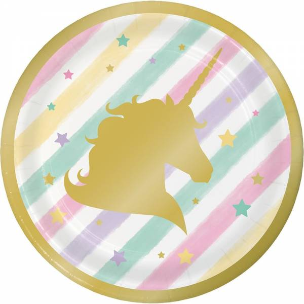 Unicorno gold piattino
