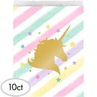 Unicorno gold sacchettini in carta