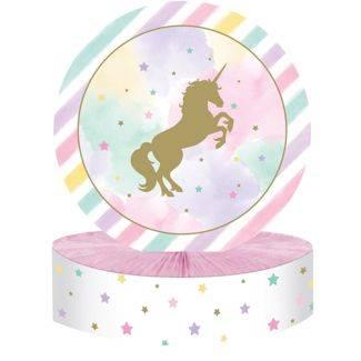 Unicorno gold centrotavola