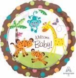 Baby shower giungla marrone con pois