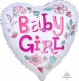 Nascita cuore baby girl con fiori