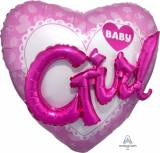 Nascita Cuore multiballoon baby girl