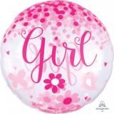 Nascita Pallone Jumbo confetti baby girl