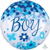 Nascita Pallone Jumbo Confetti Baby Boy