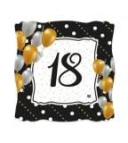 18esimo piatto square oro e nero