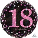 Pallone 18 anni fuxia sparkling