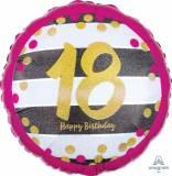 Pallone 18 anni pink & gold