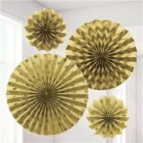Cresima decorazione ventagli oro in carta