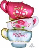 Pallone in myler happy mother's day tazzine festa della mamma