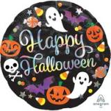 Pallone halloween fantasmi e zucche iridescenti