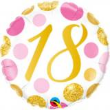 Pallone 18 anni pois rosa & oro