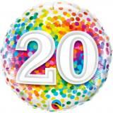 Pallone 20 anni confetti