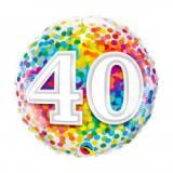 Pallone 40 anni confetti