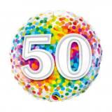 Pallone 50 anni confetti