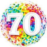 Pallone 70 anni confetti