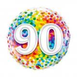 Pallone 90 anni confetti