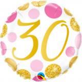 Pallone 30 anni pois rosa & oro