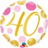 Pallone 40 anni pois rosa & oro